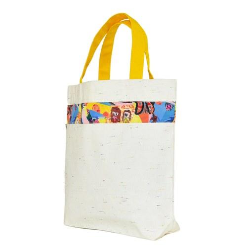 我的家庭真可愛環保提袋(加大款)-黃色