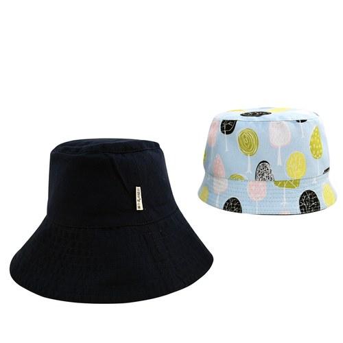 雙面漁夫帽-繽紛森林-親子帽