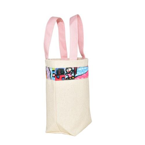 我的家庭真可愛環保提袋-嫩粉色