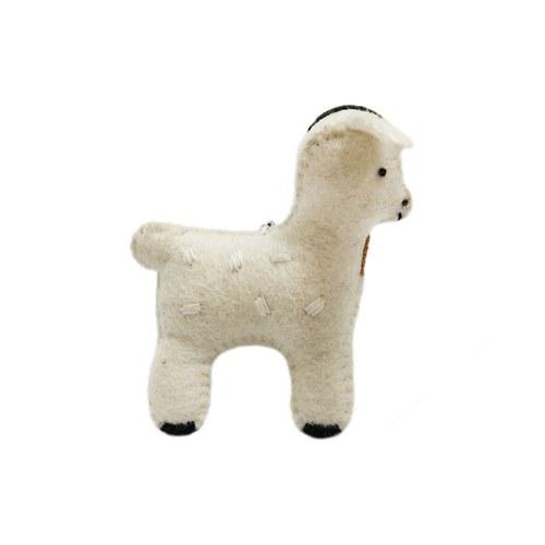 點點羊鑰匙圈-白色