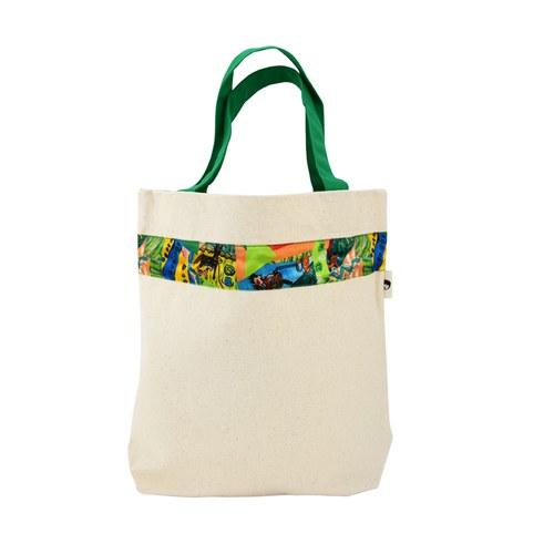 我的家庭真可愛環保提袋(加大款)-嫩綠色