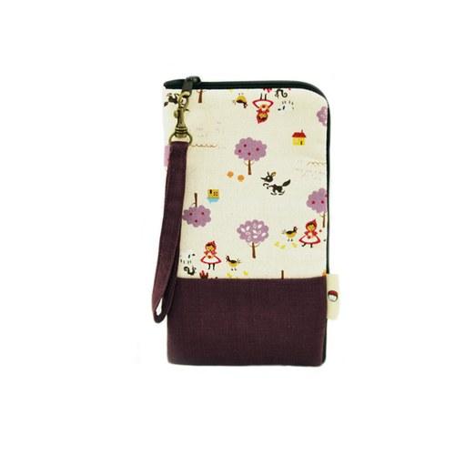 L型大手機袋-紫色童話