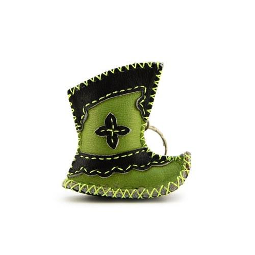 【蒙古傳統】奔跑大草原皮靴鑰匙圈-抹茶綠