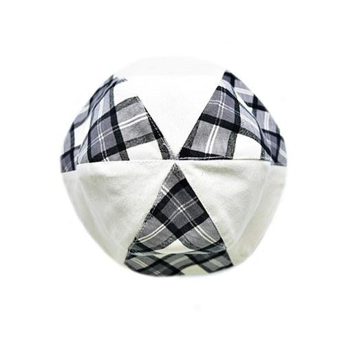 菱格紋雙面漁夫帽-蜜桃色