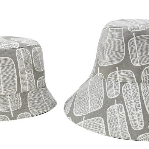 雙面漁夫帽-北歐雪葉-親子帽
