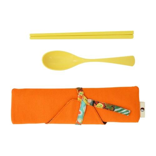 我的家庭真可愛筷套-橘色(附環保餐具二件組)