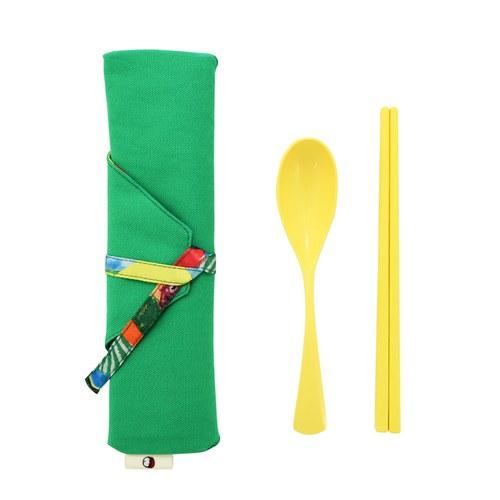 我的家庭真可愛筷套-綠色(附環保餐具二件組)