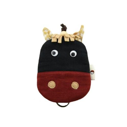 【QQ萌馬】鑰匙包-帥氣黑