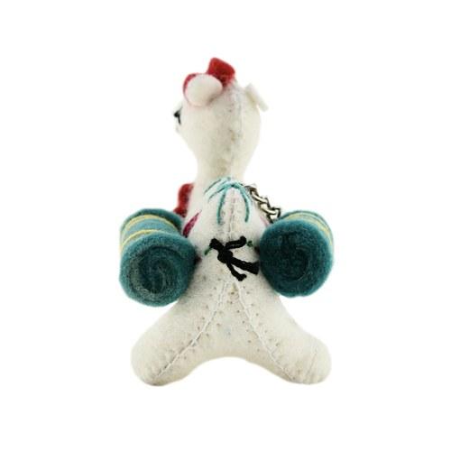 幸福之路小駱駝鑰匙圈-白色