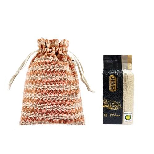 金碳稻香米(1入)+銅白圖騰-小束口袋