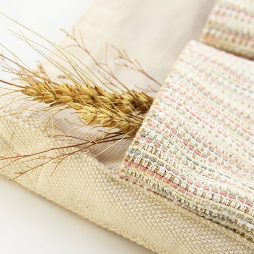 金碳稻香米(3入)+跳色手提袋-粉綠