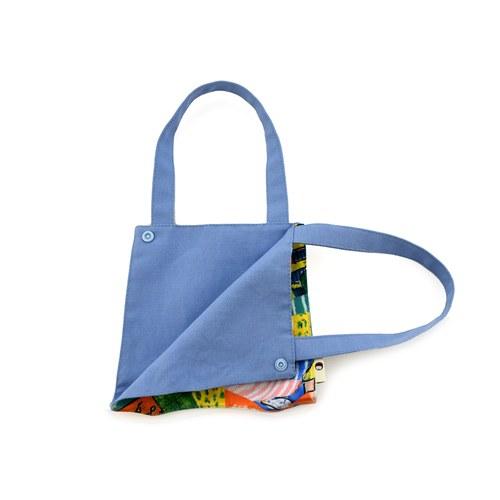 我的家庭真可愛多功能掛袋-藍色