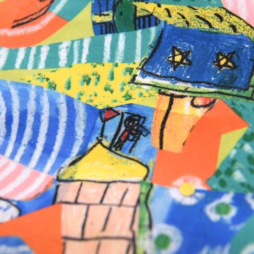我的家庭真可愛提袋-藍色(買大送小)