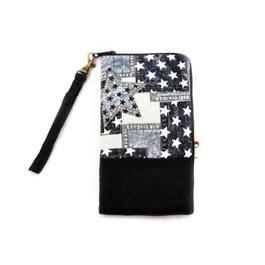 L型大手機袋-牛仔繁星