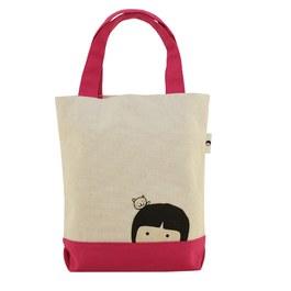 【家扶WAWA】手提袋-桃紅