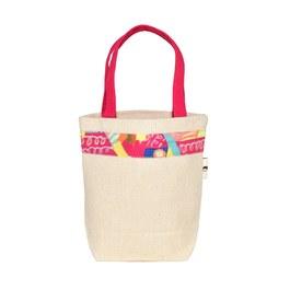 我的家庭真可愛環保提袋-桃紅色