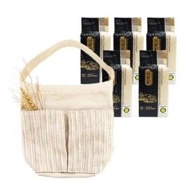 金碳稻香米(5入)+跳色手提袋-粉綠