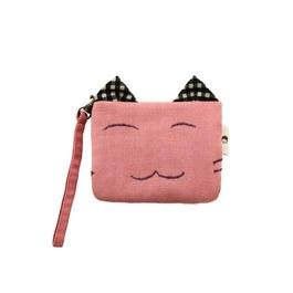 【喵喵狂想曲】笑笑貓零錢包-粉色