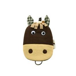 【QQ萌馬】鑰匙包-經典咖啡