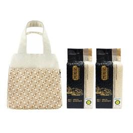 金碳稻香米(2入)+編織小提袋-簡約