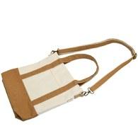 水洗帆布斜背包-奶茶色