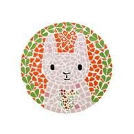 馬賽克拼貼隔熱墊-採花小粉兔