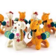 幸福之路小駱駝鑰匙圈-橙色