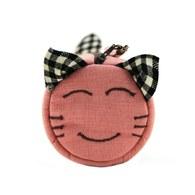 【喵喵狂想曲】笑笑貓滾筒筆袋(粉紅)
