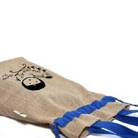 愛地球-黃麻手提束口包(LOGO款)