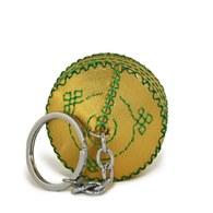 【蒙古傳統】軟軟皮蒙古包鑰匙圈-香檳金