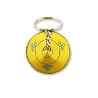 【蒙古傳統】軟軟皮蒙古包鑰匙圈-明黃