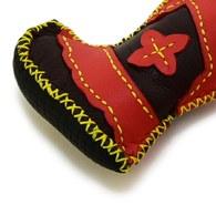 【蒙古傳統】奔跑大草原皮靴鑰匙圈-咖啡紅