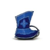 【蒙古傳統】奔跑大草原皮靴鑰匙圈-海洋藍