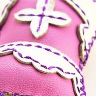 【蒙古傳統】奔跑大草原皮靴鑰匙圈-嫩粉色