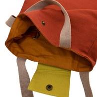 撞色手提袋-番茄紅