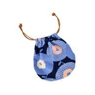 和風小花-球型束口袋(小)
