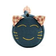 【喵喵狂想曲】笑笑貓滾筒筆袋(藍色)