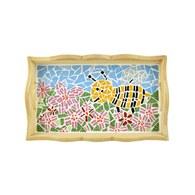 馬賽克拼貼托盤-采釀春忙小蜜蜂