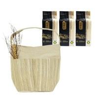 金碳稻香米(3入)+跳色手提袋-米棕