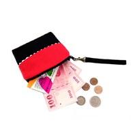 【尋找‧愛】拼接零錢包-紅黑色