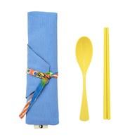 我的家庭真可愛筷套-藍色(附環保餐具二件組)