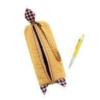【喵喵狂想曲】笑笑貓滾筒筆袋(黃色)