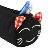 【喵喵狂想曲】笑笑貓滾筒筆袋(黑色)