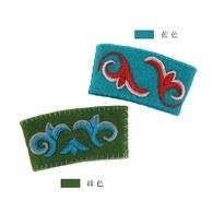 刺繡圖騰杯套-藍色