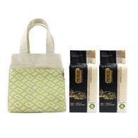 金碳稻香米(2入)+編織小提袋-花信