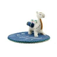 湛藍珍珠小駱駝杯墊-湖水藍