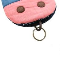 【QQ萌馬】鑰匙包-時尚藍