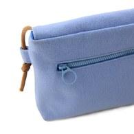 我的家庭真可愛雙蓋側背小包-藍色